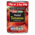 Local Value Peeled Tomatoes PM 39p or 2/£0.69