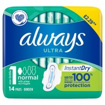 Always Ultra Normal Size 1 14 Pads PM £2.29