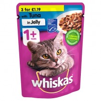 Whiskas 1+ Tuna in Jelly PM 3/£1.19