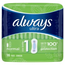 Always Ultra Normal 16 Pads PM £2.29