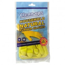 Clean Ups Household Natural Rubber Gloves Medium