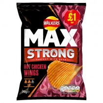 Walkers Max Strong Hot Chicken Wings PM £1