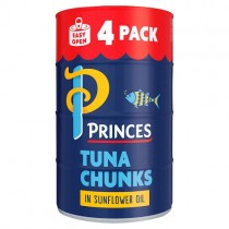 Princes Tuna Chunks in Sunflower Oil 4 Pack