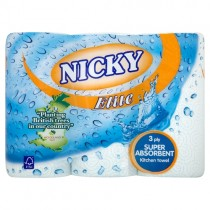 Nicky Elite Kitchen Towel 3 Roll