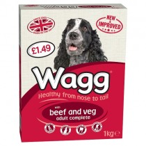 Wagg Complete Beef & Veg 1kg PM £1.49