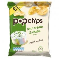 Popchips Sour Cream & Onion PM £1