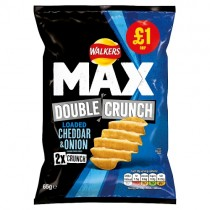Walkers Max Double Crunch Cheddar & Onion PM £1