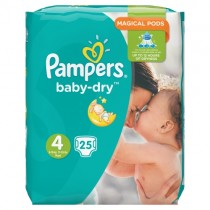 Pampers Baby Dry Size 4 25 Nappies PM £4.99
