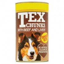 Tex Chunks with Beef & Liver 1.2kg PM £1.45