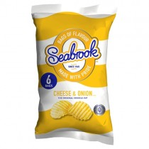 Seabrook Cheese & Onion 6 Pack
