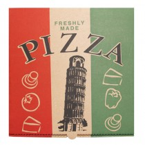 Roma Tower Brown Pizza Box 9''