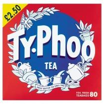 Typhoo Tea 80 Teabags PM £2.50